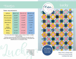Lucky Star quilt pattern by Color Girl Quilts