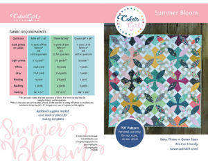 summer bloom pattern by Color Girl Quilts
