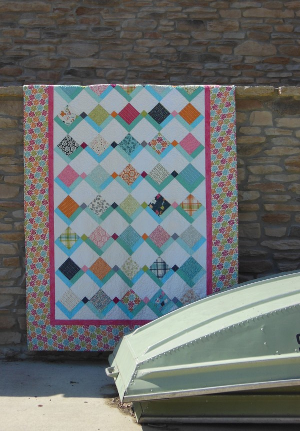 Flying Kites quilt kit with charm squares fabric by Moda