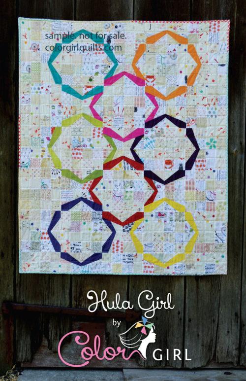 Hula Girl quilt pattern cover by Sharon McConnell for Color Girl quilts