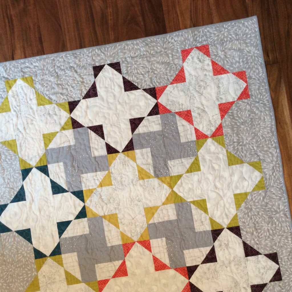 Gossamer quilt by Sharon McConnell, with Hoffman fabrics and Indah Batiks