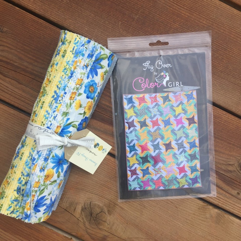 Quilting and sewing giveaway prize, layer cake, quilt pattern