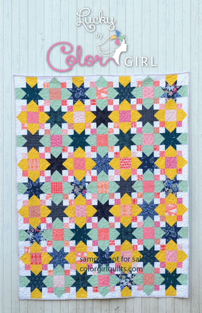 Lucky quilt pattern cover by Sharon McConnell color girl quilts