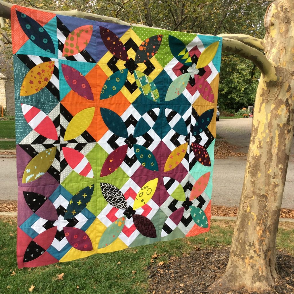 Summer Bloom quilt pattern by Sharon McConnell Color Girl Quilts