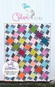 Spin quilt pattern cover, modern quilt by Sharon McConnell