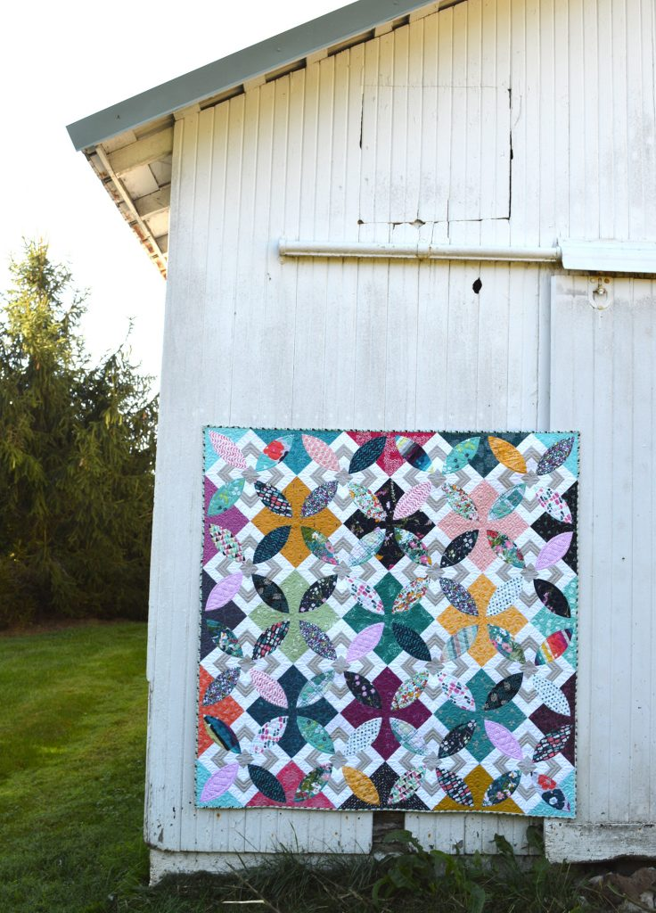 Summer Bloom quilt pattern by Sharon McConnell with Art Gallery Fabrics