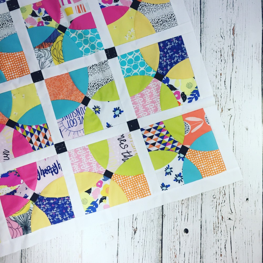flowering snowball mini quilt by Sharon Mcconnell with Art Gallery Fabrics