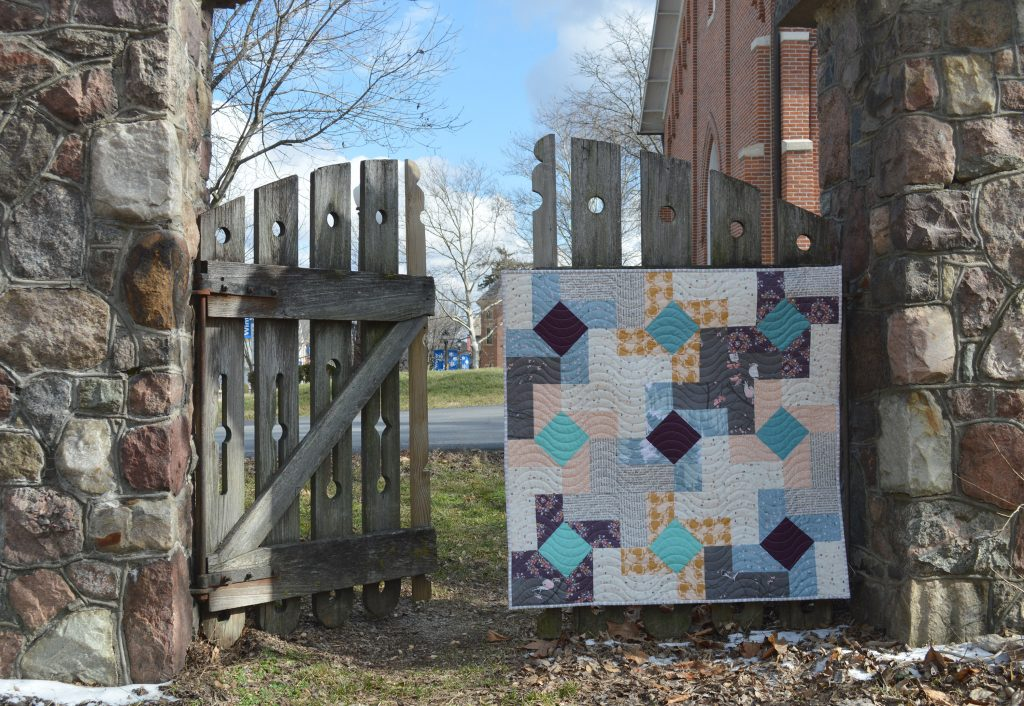Dutch Windmill quilt with Blithe Fabrics by Art Gallery Fabrics