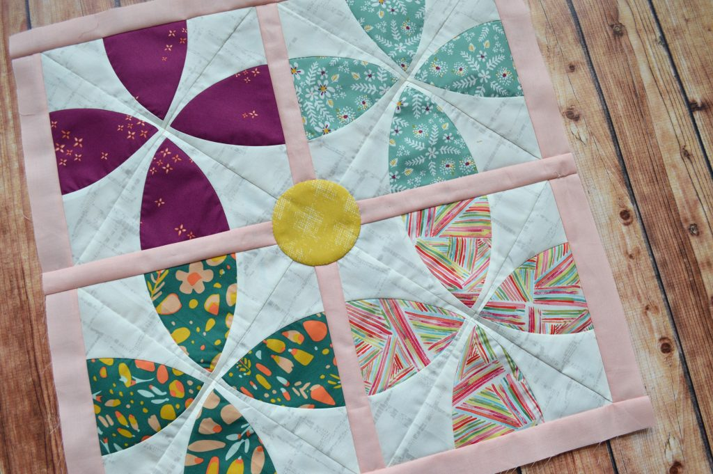 Whimsy Garden blocks, quilt pattern by Color Girl Quilts