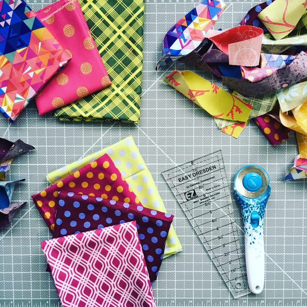 choosing fabric for quilt, with Alison Glass fabrics