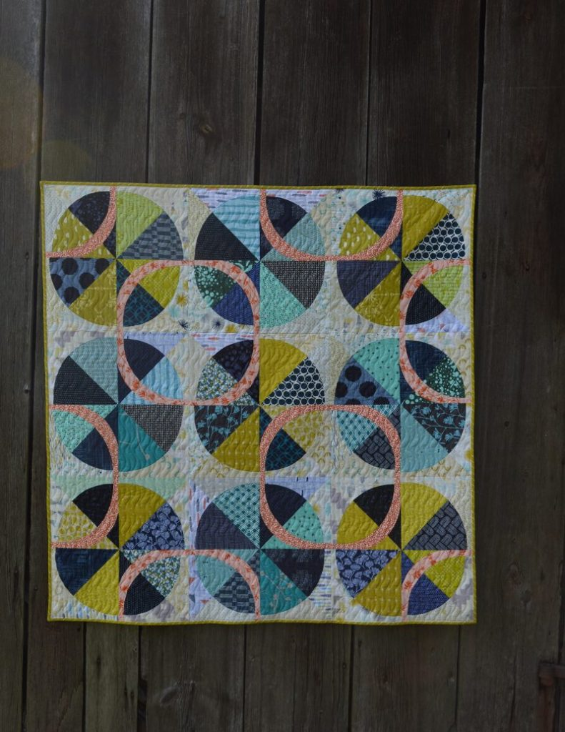 Color Story quilt with curved piecing by sharon mcconnell, in Love Patchwork and quilting magazine