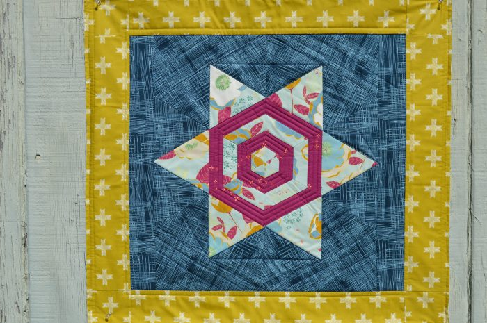 Aurora Quilt, hexagon star pattern by color girl sharon mcconnell