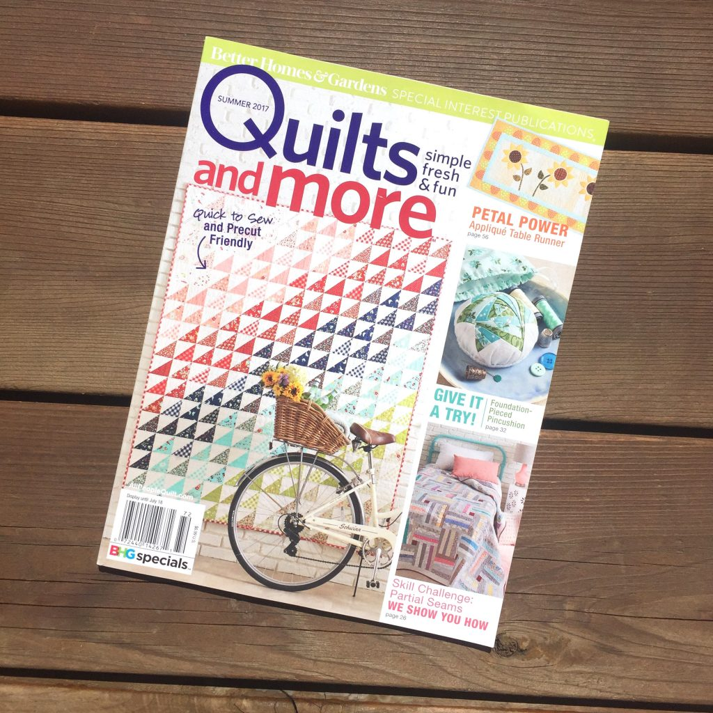 Quilts and More magazine cover summer 2017