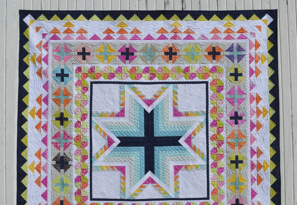 Pixie medallion quilt pattern by Sharon McConnell, modern medallion quilt