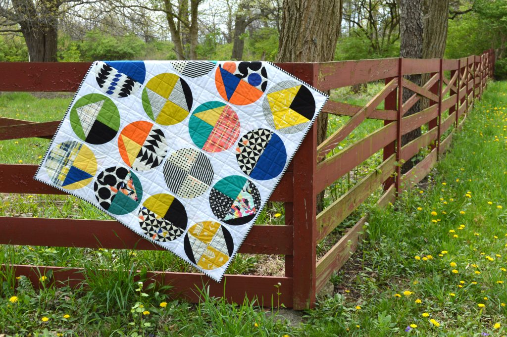 Fusions Quilt by Sharon McConnell with Art Gallery Fabrics capsules take shape fabrics