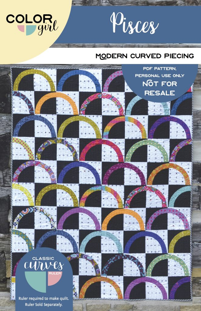 Pisces quilt pattern by Color Girl Quilts Sharon McConnell