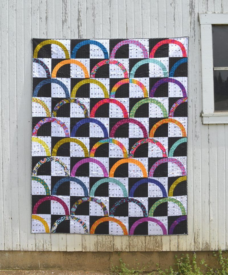 Pisces quilt by Color Girl quilts with Classic Curves Ruler