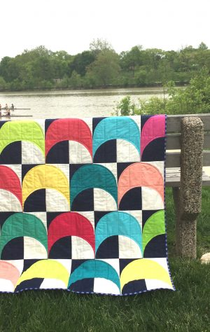 what shade are you quilt with RJR cotton supreme solids fabrics by Sharon McConnell