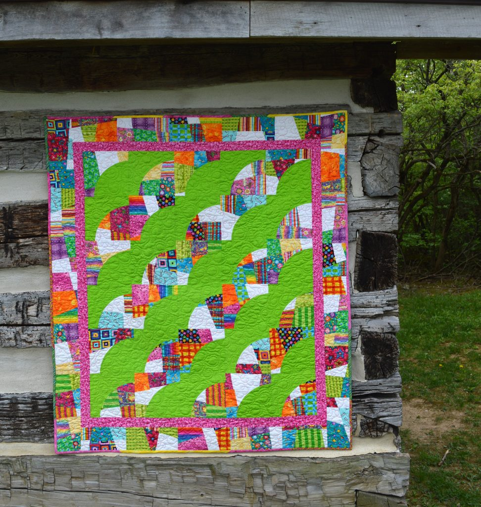 crazy curves quilt by Sharon McConnell Color Girl Quilts