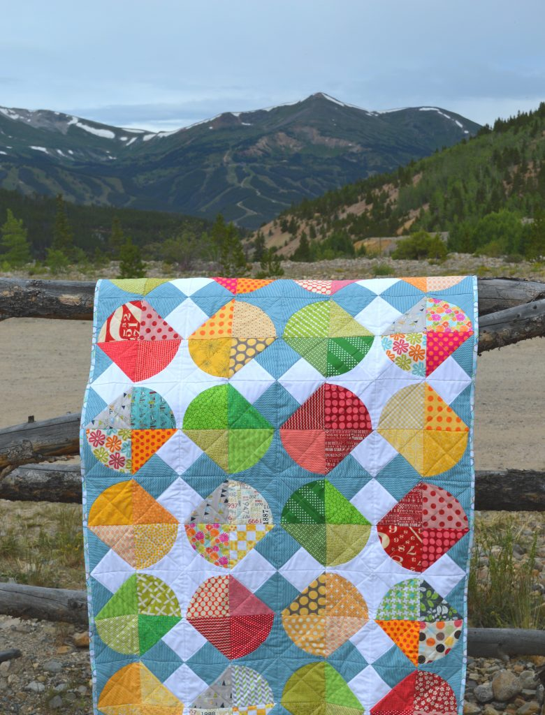 tipsy quilt pattern by Sharon Mcconnell, modern curved piecing quilt