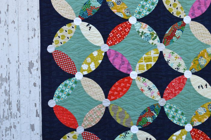 Picnic quilt pattern by Color Girl Quilts Sharon McConnell. Modern curved piecing quilt