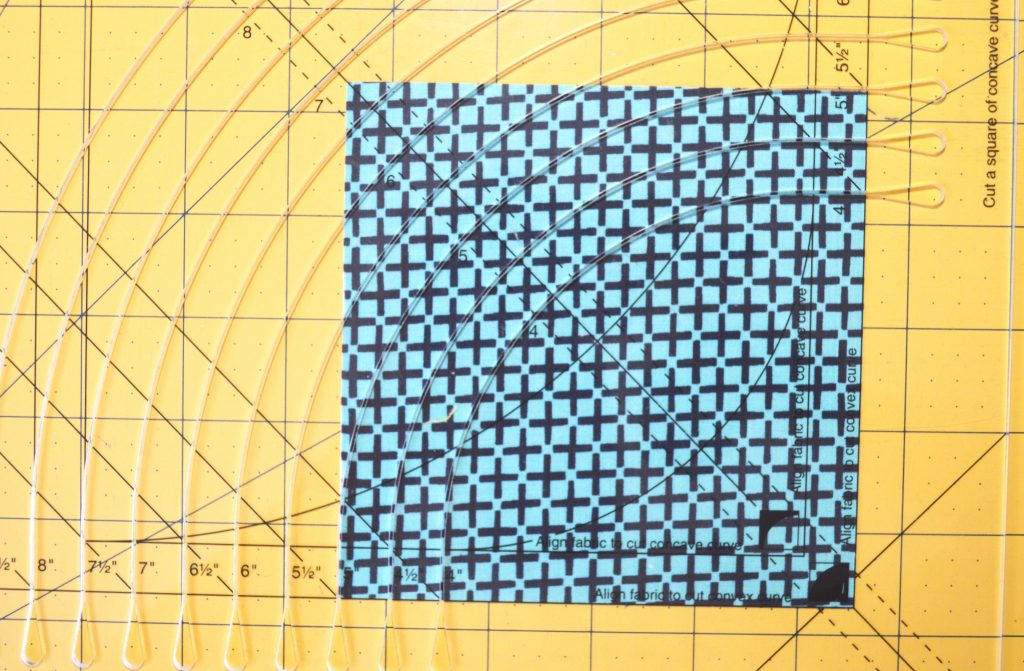 How to cut convex curve for curved piecing quilt, with Classic Curves Ruler