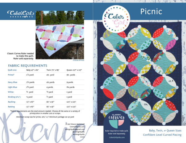 picnic quilt pattern by color girl quilts.