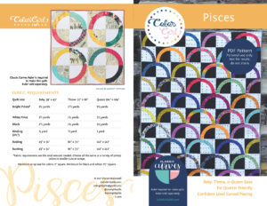 Pisces quilt pattern by color girl quilts