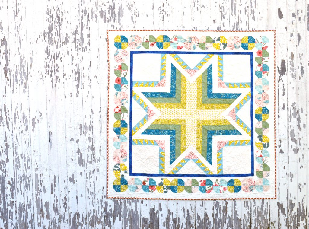 Pixie medallion quilt, small version using Bountiful fabrics by Art Gallery Fabrics. pattern by Color Girl Quilts