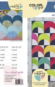 Mermaid quilt pattern for the Classic Curves ruler by color girl Quilts