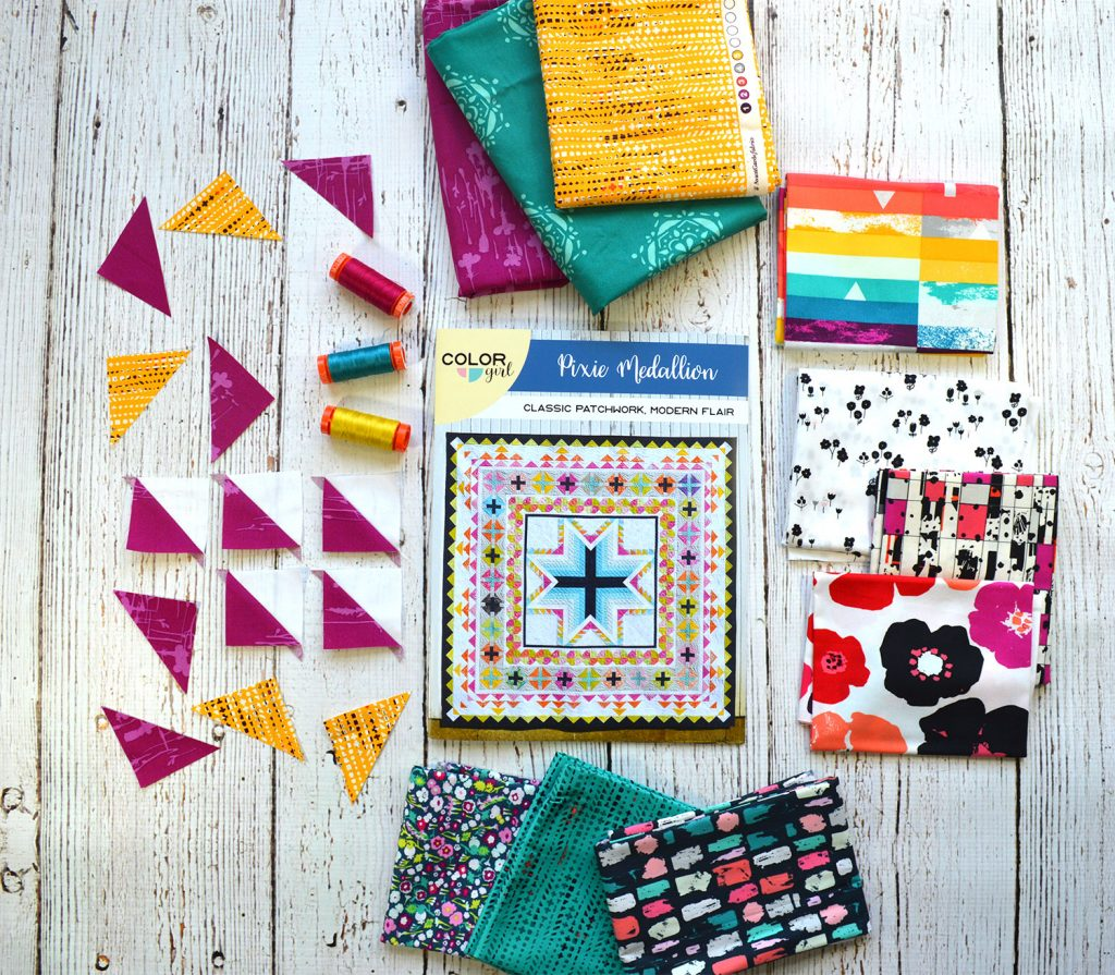 Quilt Along, Pixie Medallion quilt pattern by Color Girl quilts