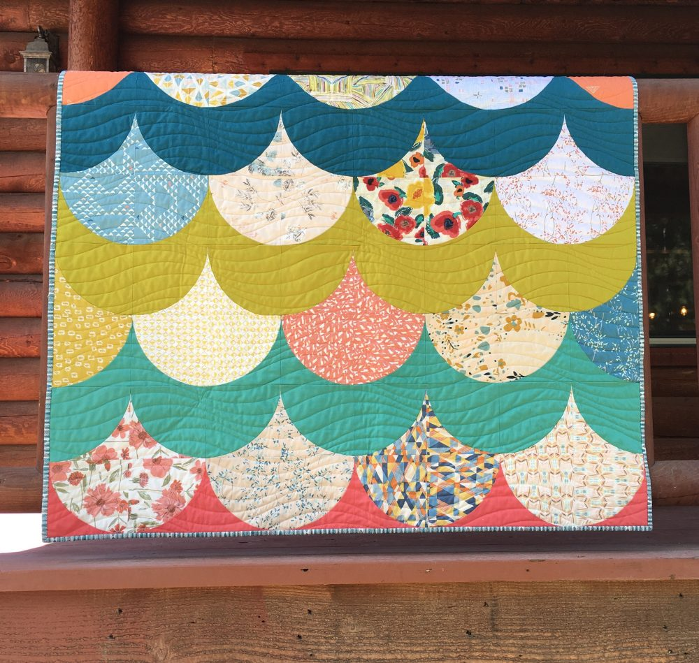 Pretty Mermaid Scales A Pattern Hack Color Girl Quilts