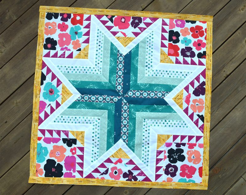 Pixie Medallion quilt, center feather star by Color Girl Quilts, Sharon McConnell