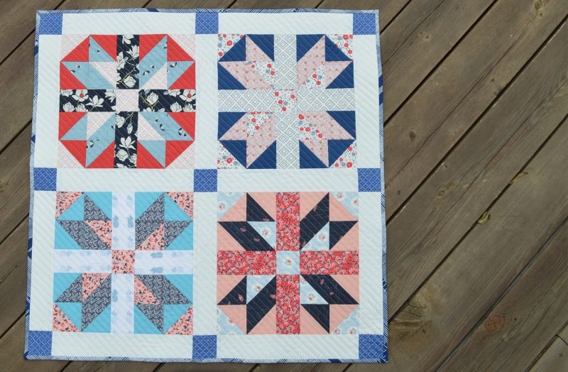 Art Gallery Fabrics, traditional quilt block, free tutorial for Jack in the Box quilt block