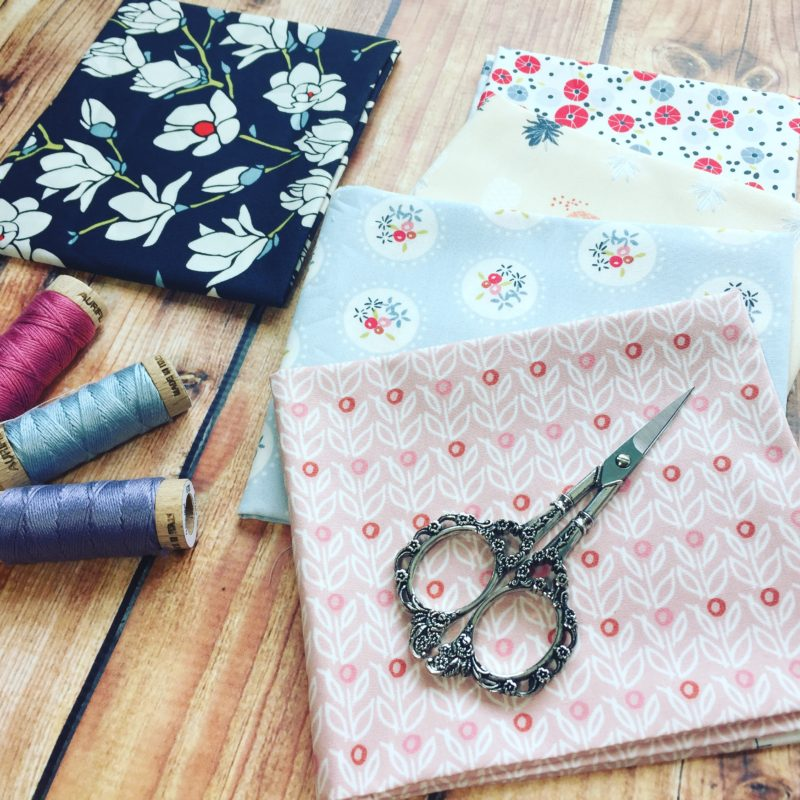 Warm Crochet scissors with Art Gallery Fabrics, gift ideas for creative crafty people