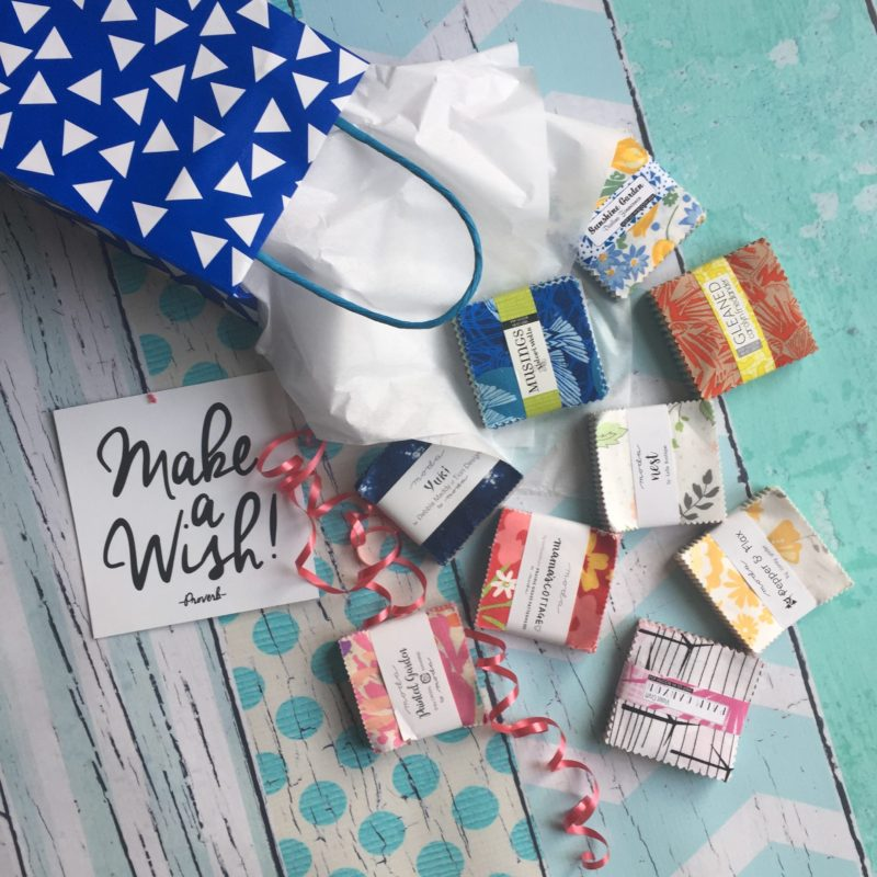 Mini charm packs, scraps of fabric for quilting, gift giving for creative people