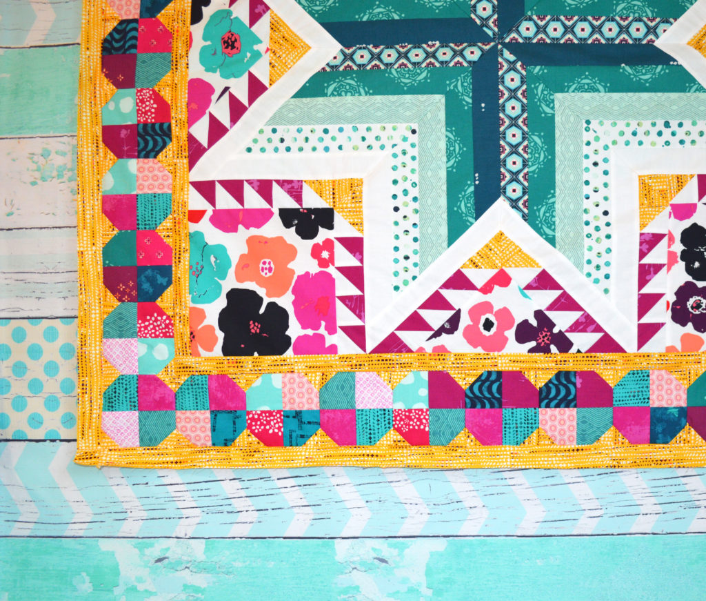 Pixie Medallion Quilt Along, adding the first border, snowball blocks with Sharon McConnell