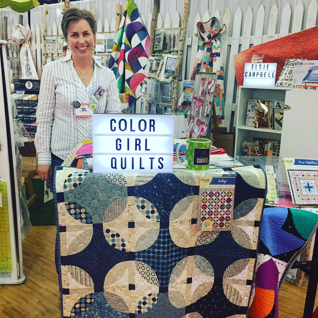 Sharon McConnell, Color Girl Quilts at International Quilt Market, Houston 2017
