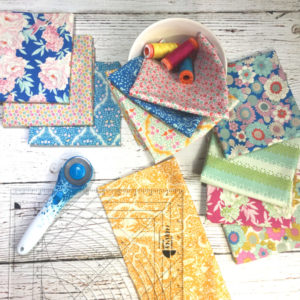 Lemon Tree fabric by Tilda, Classic Curves Ruler by Color Girl Quilts