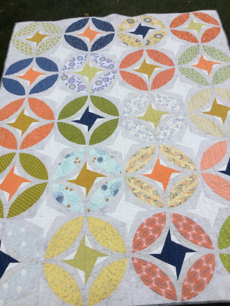 Renee's Eclipse quilt, pattern by Color Girl quilts