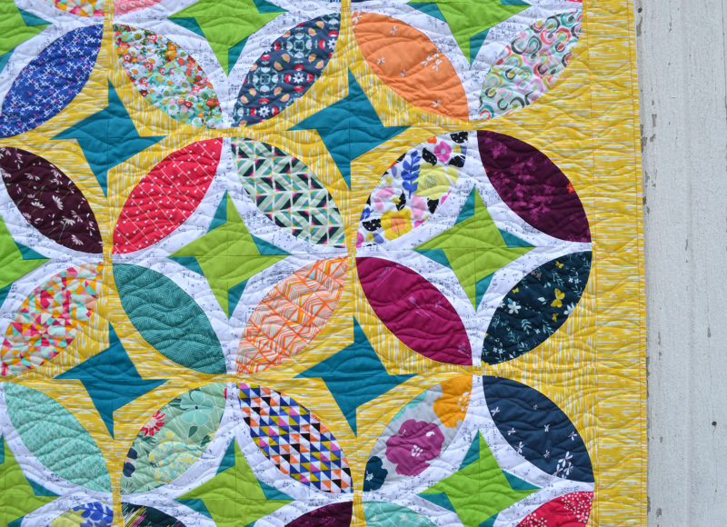 Eclipse quilt pattern by Color girl Quilts. with the Classic curves Ruler
