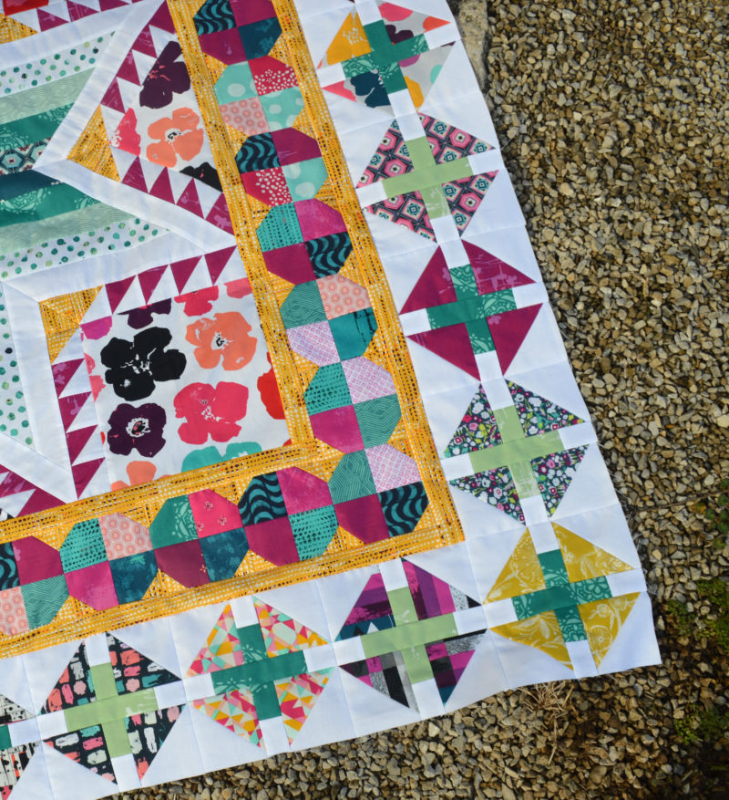 Pixie Medallion quilt pattern by Color Girl Quilts, Quilt Along