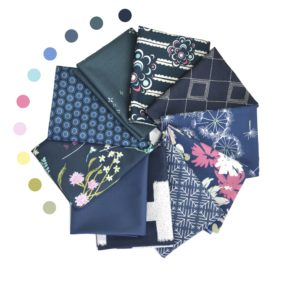 Indigo fat quarter bundle, fabrics by Art Gallery Fabrics, sold by Color Girl quilts