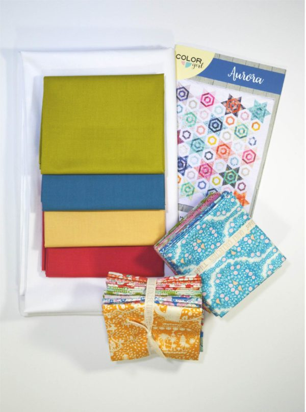 Aurora quilt pattern fabric kit by Color Girl quilts