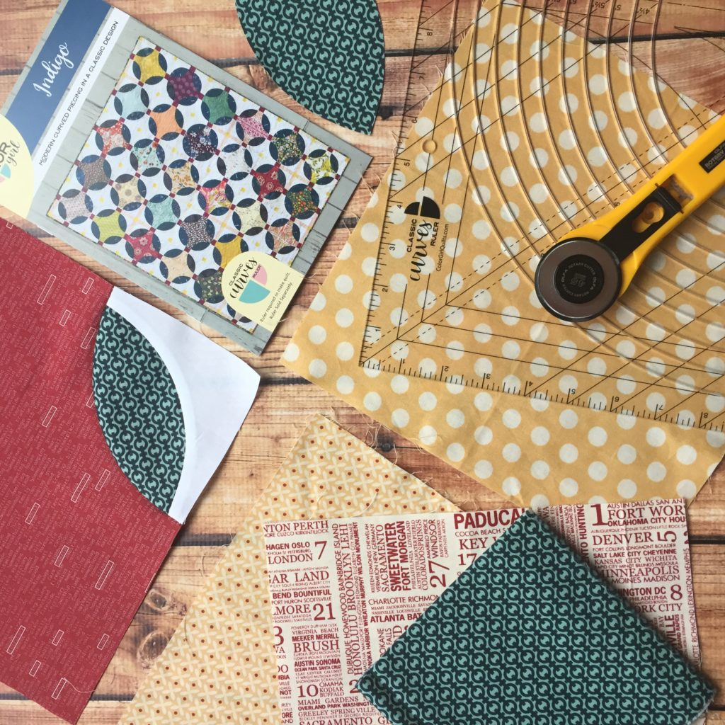 Classic Curves Ruler with Moda Fabrics, For Curved Piecing quilts