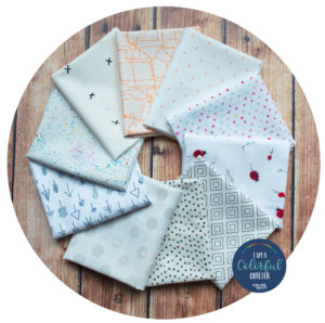 Low volume fabric bundle sold by Color girl Quilts