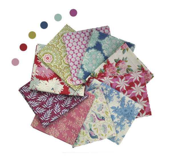 Tilda fabrics fat eighth bundle by Color Girl Quilts shop