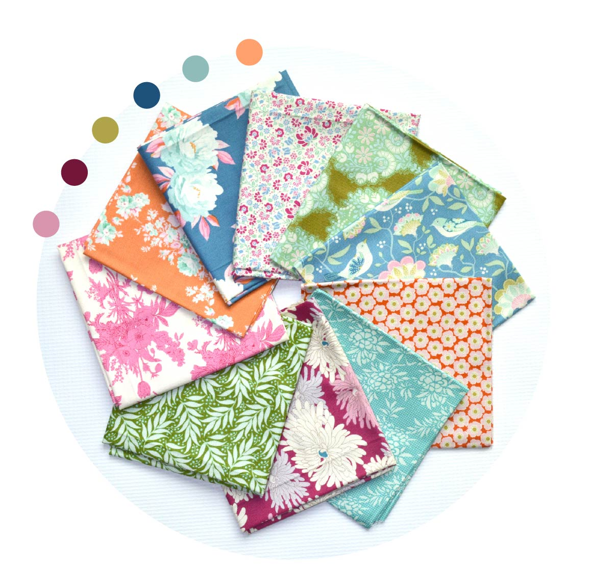 Tilda fabrics, mixed collection bundle for quilters, bundle sold by Color Girl Quilts