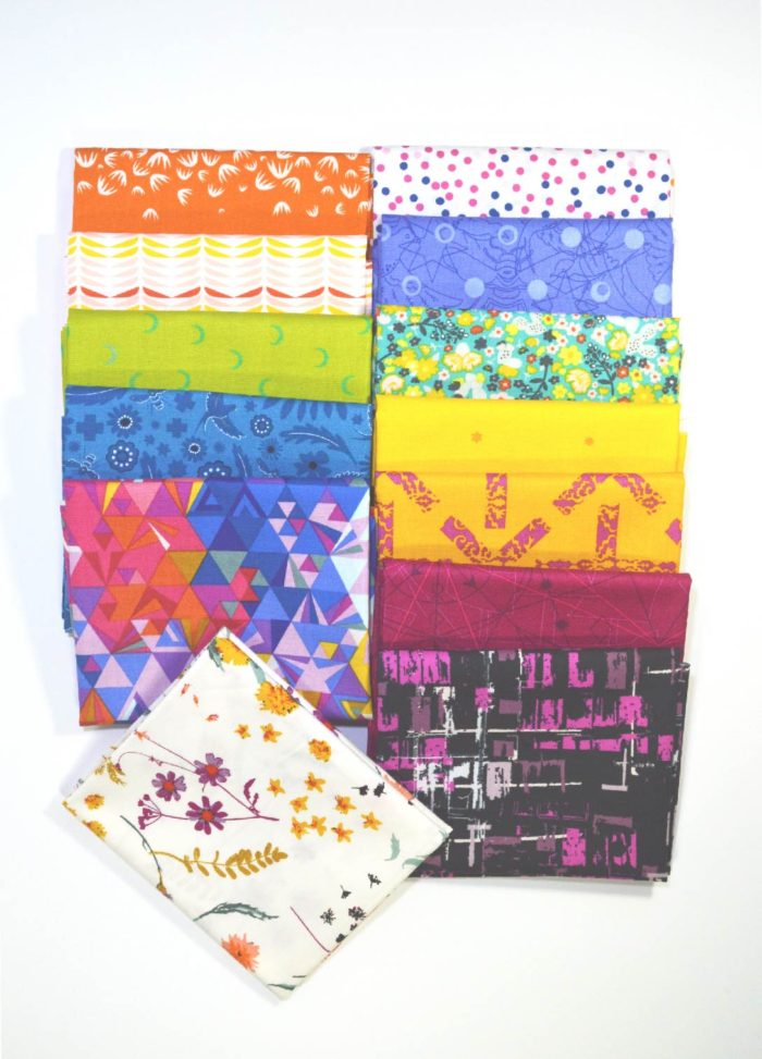 Sew Colorful bright fabrics bundle by Color Girl quilts