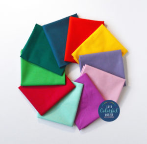 Summer color solids fabric bundle sold by Color Girl Quilts